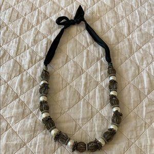 Tasha pearl ball ribbon necklace